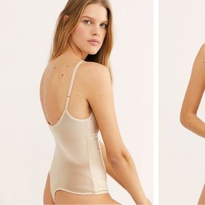Free People Champagne Bodysuit